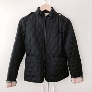 Burberry Brit Navy Edgefield Quilted Jacket xs